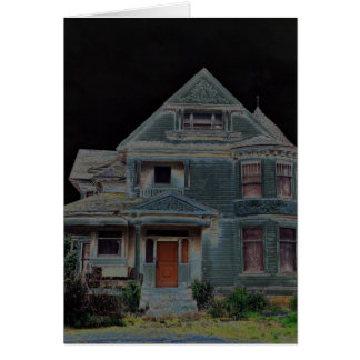 Tarjeta Casa encantada de Halloween