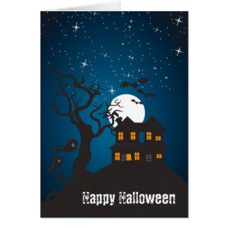Tarjeta Casa encantada V del feliz Halloween