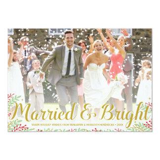 Tarjeta casada de la foto del día de fiesta de los invitación 12,7 x 17,8 cm