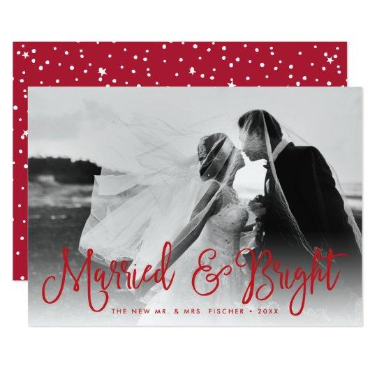 Tarjeta casada y brillante de la foto del día de