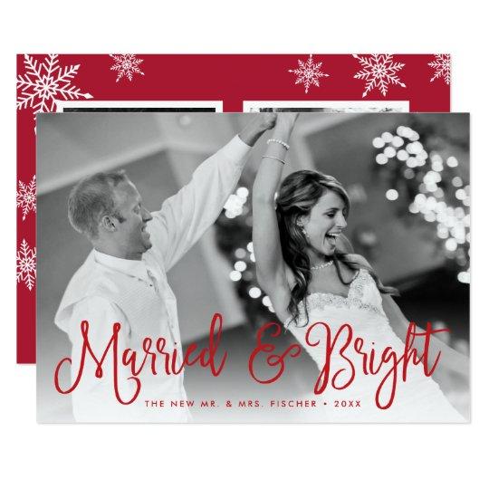 Tarjeta casada y brillante de la foto del día de invitación 12,7 x 17,8 cm