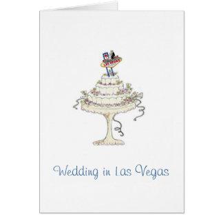 Tarjeta Casandose en la novia y el novio de Las Vegas,