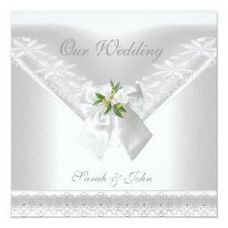 Tarjeta Casar el cordón floral del arco blanco blanco de