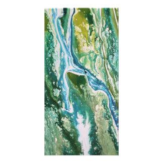 Tarjeta Cascada azulverde abstracta colorida de la
