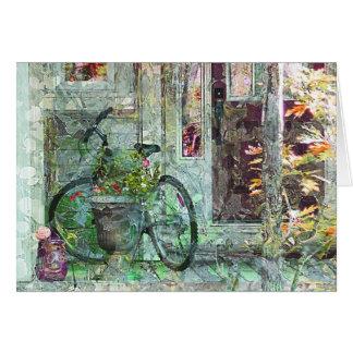Tarjeta casera agradable del arte de la biciclet