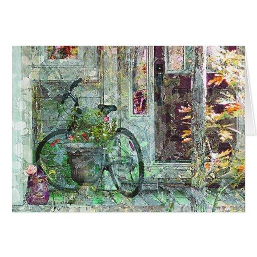 """Tarjeta """"casera"""" agradable del arte de la biciclet"""