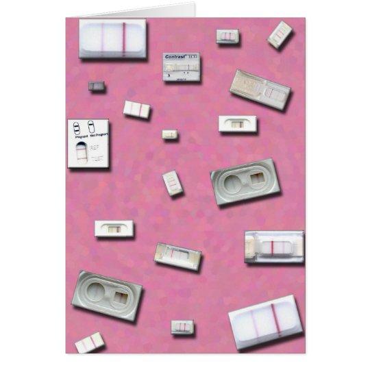 Tarjeta casera de las pruebas de embarazo