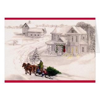 Tarjeta casera del día de fiesta del navidad del