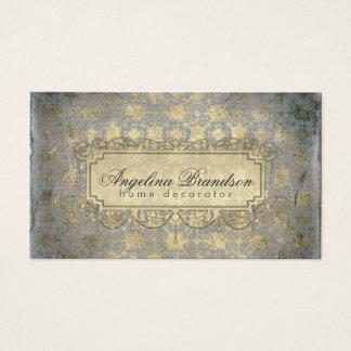 Tarjeta casera del vintage del decorador/del