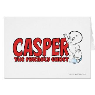 Tarjeta Casper el logotipo rojo 2 del fantasma amistoso