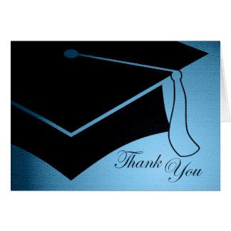 Tarjeta casquillo de la graduación: gracias