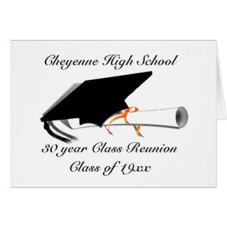 Tarjeta Casquillo de la graduación - reunión de clase de