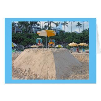 Tarjeta castillo de arena