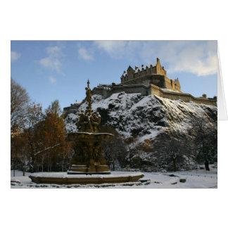 Tarjeta Castillo de Edimburgo en invierno