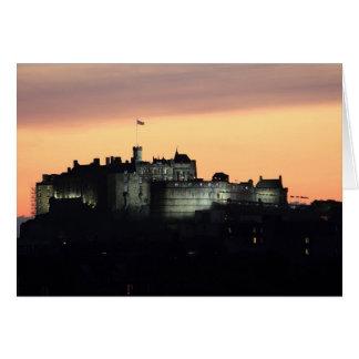 Tarjeta Castillo de Edimburgo en la noche