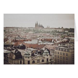 Tarjeta Castillo de Praga en la ciudad de la República