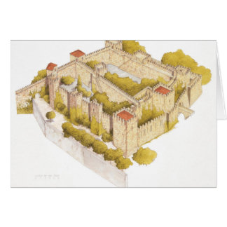 Tarjeta Castillo de San Jorge. Lisboa Portugal