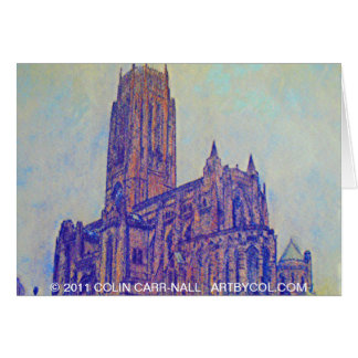 Tarjeta Catedral anglicana Liverpool de Colin Carr-Nall