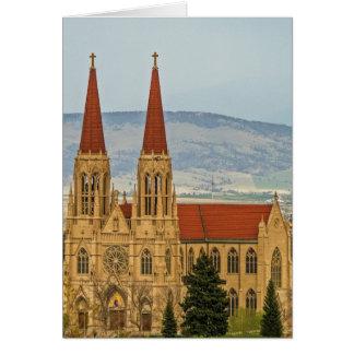 Tarjeta Catedral de St. Helena, Helena, Montana