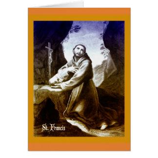 Tarjeta católica St Francis de la cita de Assisi