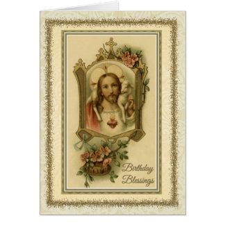 Tarjeta católica tradicional de la bendición de