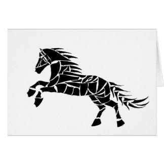 Tarjeta Cavallerone - caballo negro