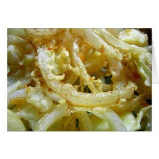Tarjeta Cebollas fritas