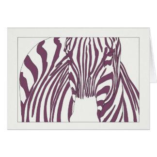 Tarjeta Cebra púrpura
