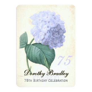 Tarjeta Celebración 2 del cumpleaños del Hydrangea azul