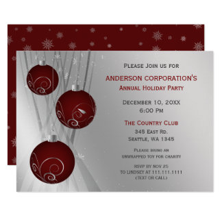 Tarjeta Celebración de días festivos corporativa festiva