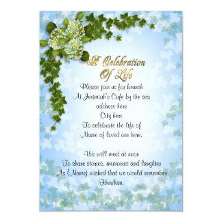 Tarjeta Celebración de la hiedra y de las flores de la