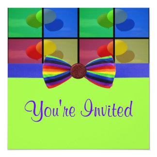 Tarjeta Celebración del cumpleaños del globo del arco iris