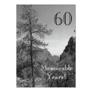 Tarjeta Celebración-Naturaleza memorable de 60