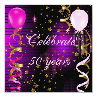 Tarjeta Celebre 50 estrellas púrpuras del 50.o de