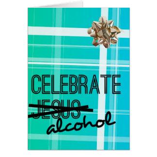 Tarjeta Celebre el alcohol