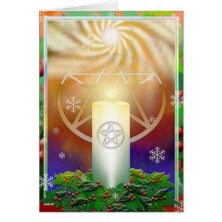 Tarjeta Celebre el calor del Yule Sun