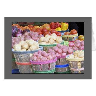 Tarjeta Celemines de patatas en el mercado de la garra de