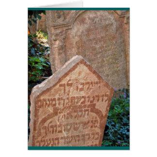 """Tarjeta """"Cementerio judío, Praga """""""
