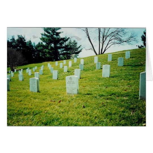Tarjeta Cementerio nacional de Arlington conmemorativo de