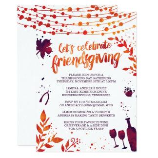 Tarjeta Cena de la acción de gracias de Friendsgiving