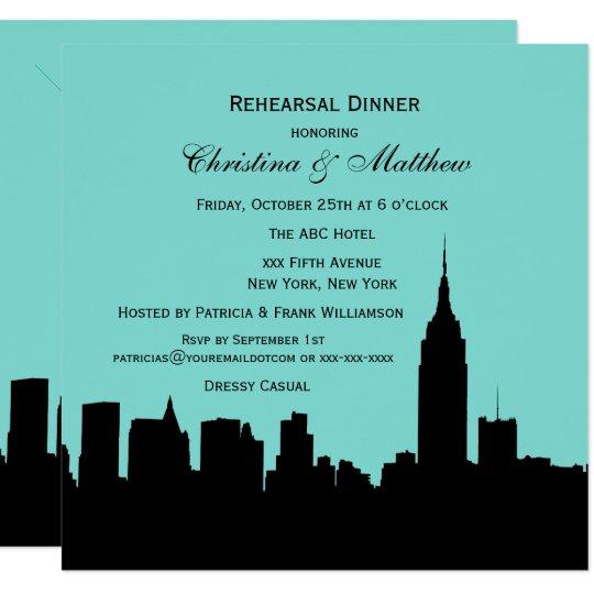 Tarjeta Cena del ensayo de la silueta del horizonte de NYC