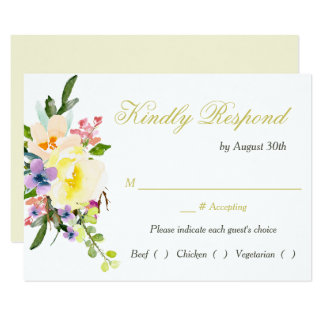 Tarjeta Cena floral RSVP del ensayo del boda del otoño