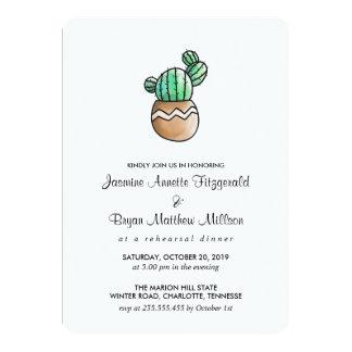 Tarjeta Cena mínima rústica del ensayo del cactus