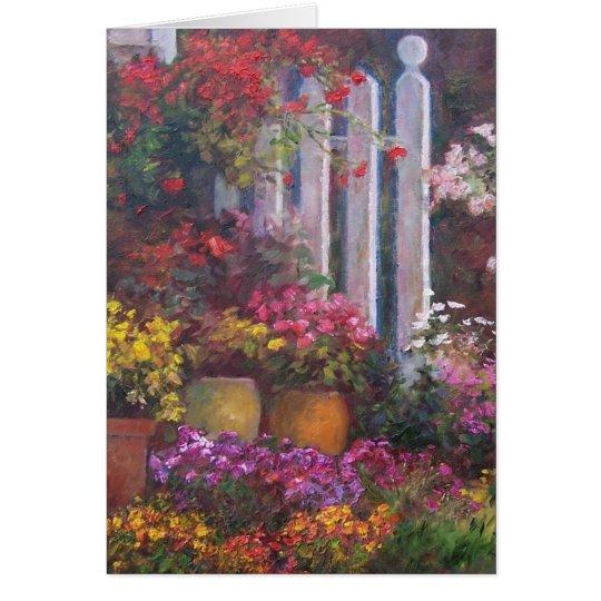 Tarjeta Cerca de flores