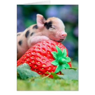 Tarjeta cerdo de la fresa