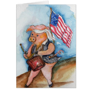 Tarjeta Cerdo patriótico