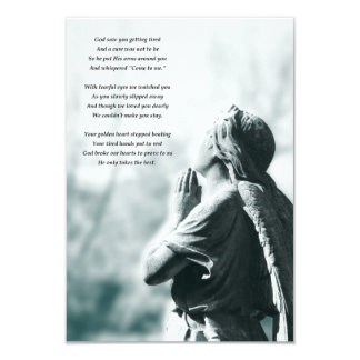 Tarjeta ceremonias conmemorativas del rezo del ángel