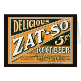 Tarjeta Cerveza de raíz de Zat-So 5¢