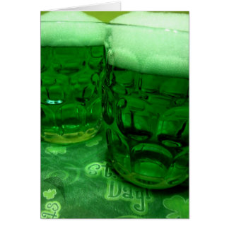Tarjeta Cerveza del día de St Patrick feliz