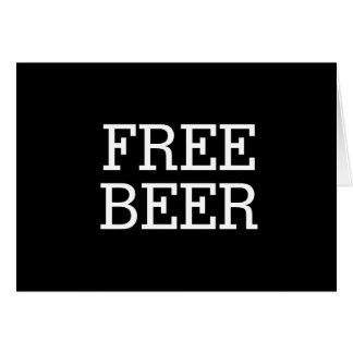 Tarjeta Cerveza libre usted será mi mejor hombre del
